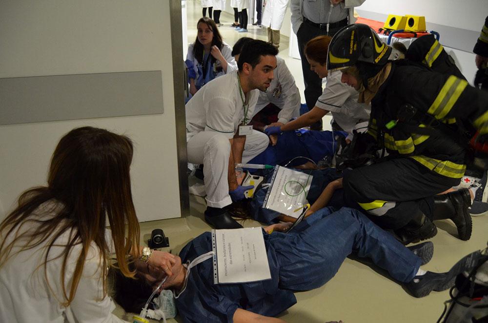 hospital-de-braga-Simulacro de explosão